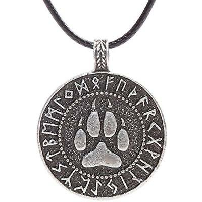 Mens Wolf Head Necklace Pendant For Dog Lover Norse Viking Warrior Arrow Headed