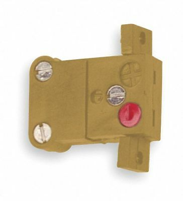 Tempco Panel Jack, Yellow, Thermocouple Type:  K, Plug or Connector Type: