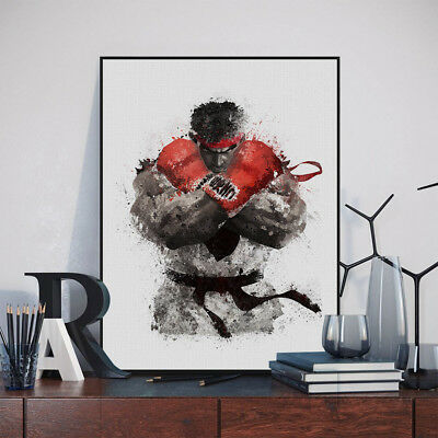 Modern Street Fight Ryu Posters Living Room Home Decor Wall Art Canvas Paintings