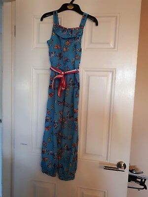 Girls Monsoon Turqouise butterfly Print Jumpsuit Playsuit Age 7 BNWT