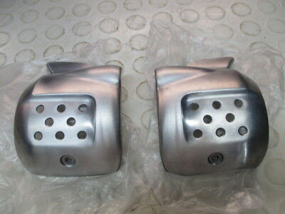 triumph street twin/scrambler/cup pair silver intake covers,excellent condition