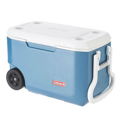 Coleman Cooler Xtreme Wheeled Blue 58L Hold Up To 80 Cans + Ice Camping Outdoors