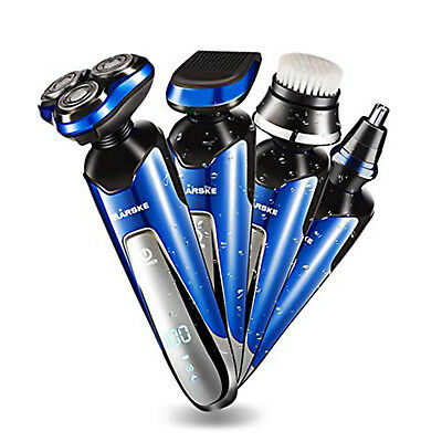 Electric Razor Shaver 4-in-1 Men Wet Dry Waterproof Cordless Rechargeable Rotary