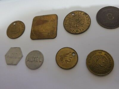 El Salvador 1800s and early 1900s coffee farm tokens lot