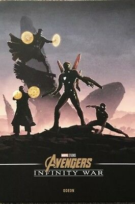 Marvel Avengers Infinity War A4 Poster Odeon RARE booking only! Iron man