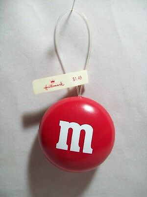 Hallmark Tree Trimmer Red M & M Candy Christmas Ornament