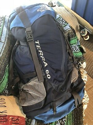 a53f9d1a9 THE NORTH FACE Terra 60 Internal Frame Hiking Camping Backpack Pack TNF  NWOT SzM