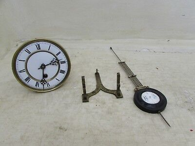 Antique Spring Driven 14 Day Wall Clock Movement