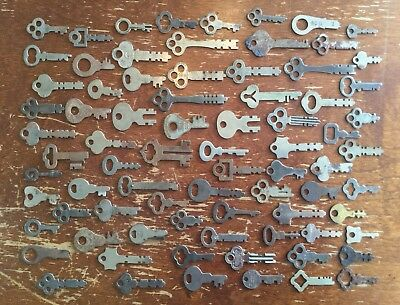 Old Vtg Antique Flat Key Corbin Eagle Yale Slaymaker Miller Sargent Lot Of 78