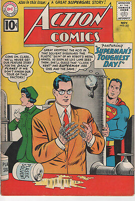 Action Comics 282 fn, 283 fn-, 284 fn-    Silver age DC comics feat. Superman