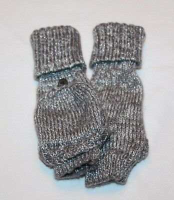 Joe Boxer Women's Gray/Silver Fingerless Gloves/Mittens One Size Fits Most