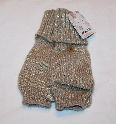 Joe Boxer Women's Brown/Tan/Silver Fingerless Gloves/Mittens One Size Fits Most