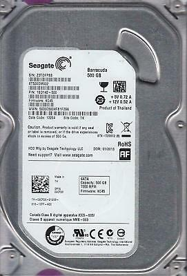 LOT of 2 SEAGATE Barracuda 500GB 7200RPM 6.0Gb/s 3.5 SATA Hard Drives ST500DM002