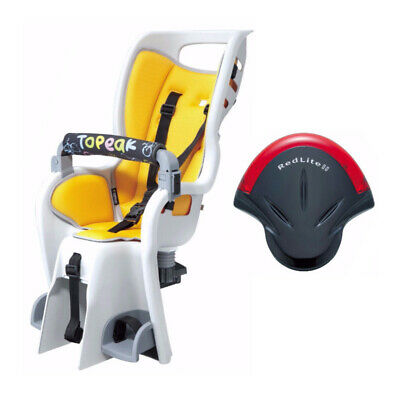 "Topeak II 26"" Non-Disc Rack Bicycle Baby Seat and RedLite Tail Light"