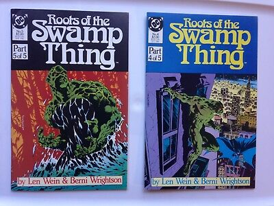 Roots of the Swamp Thing #4 5 lot DC Comics 1986 Wrightson Wein NM/VF