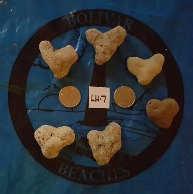 6 LARGE Natural Heart Shaped Beach Rock/Stones~ Crafts, Jewelry (Lot LH-7)