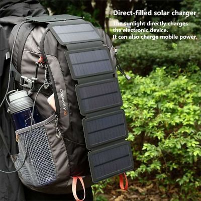 Sun Power Folding Cells Charger USB Output Devices Portable Solar Cell Panel New