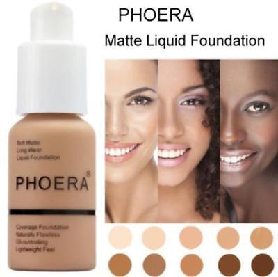 2018 Phoera Perfect Beauty 30ml Liquid Foundation Base Soft Matte Long Wear Oil