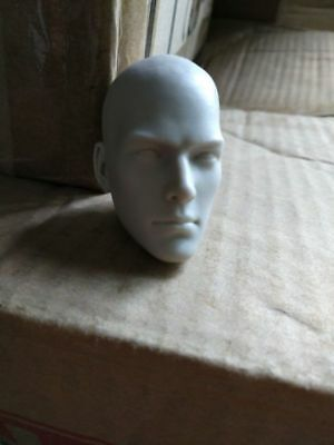 Unpainted Holy Monk Head Model 1/6 scale Male Action Figure Head Carving
