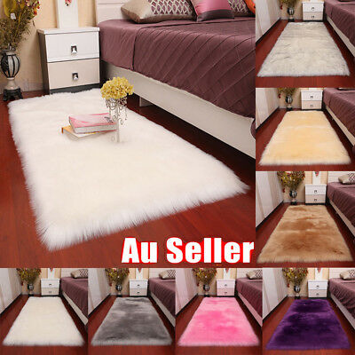 Fluffy Mat Anti-Skid Shaggy Area Rug Dining Room Carpet Floor Rugs Home Bedroom