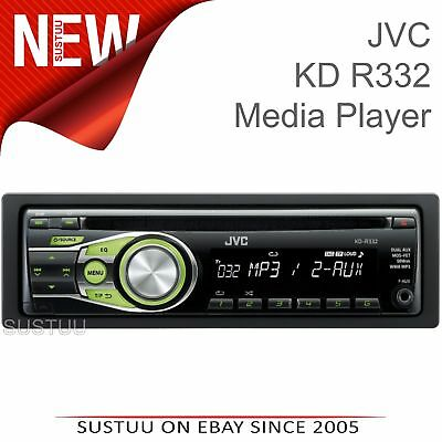 JVC KD R332 CD MP3 Front AUX In Car Stereo Radio Head unit for Apple Android NEW