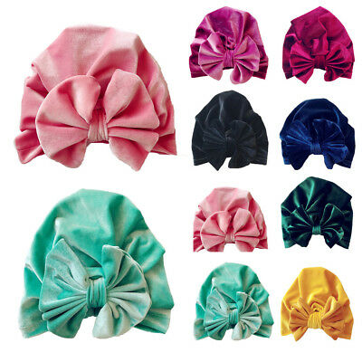 1Pc Newborn Toddler Kids Baby Boy Girl Bowknot Turban Beanie Hat Headwear Hat