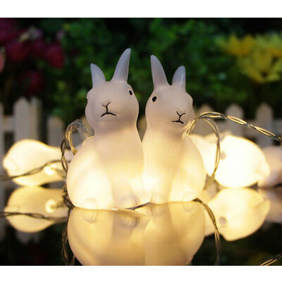10 LED Rabbit String Light Battery Powered Cute Bunny Light for Party Wedding