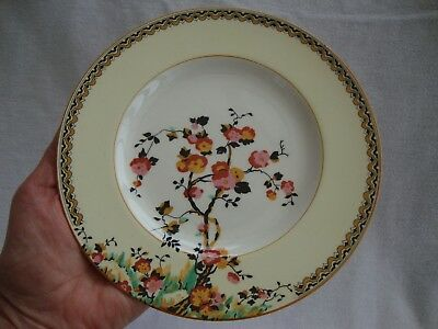 A PRETTY 1930'S VINTAGE CROWN DUCAL ART DECO SIDE PLATE  - DIAMETER 18 cm 1 OF 6