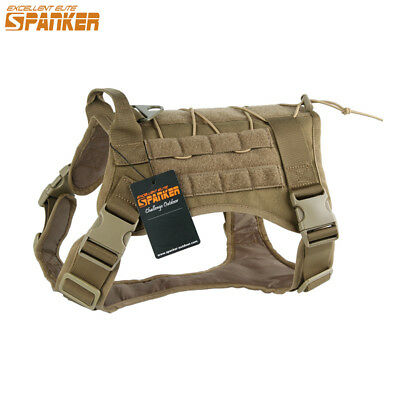 Service Dog Harness Molle Vest Military Police Dog Training Hunting Clothes M-XL