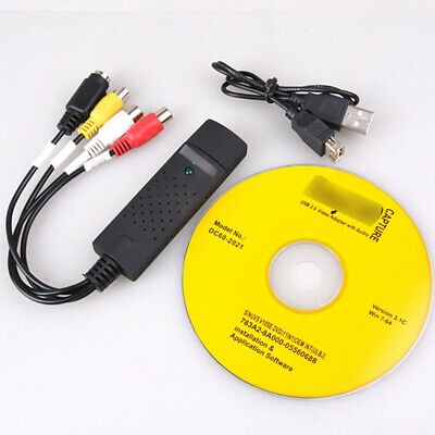 Video Audio VHS to DVD Converter Capture Card Adapter USB 2.0 for Win 7 XP 8, 10