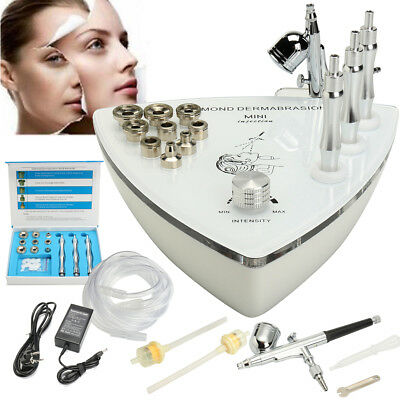 2 en 1 Diamant Microdermabrasion Dermabrasion Oxygène Vide Spray Machine Beauté