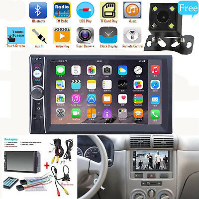 "2DIN 7"" HD Car Stereo Radio MP5 Player Bluetooth Touch Screen & Rear Camera US"