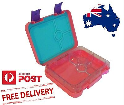 Bento Lunch Box for Kids 4 section Leakproof Pink Lunchbox BPA Free
