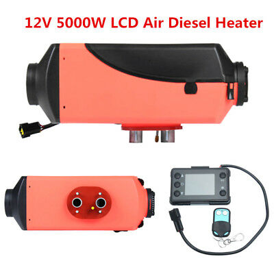 5000W LCD Air Diesel Heater 5KW 12V PLANAR for Trucks/Motor-homes/Boats/Bus UK