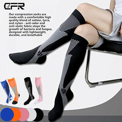 Pairs Compression Socks Flight Travel Stockings Medical Running Sports Unisex AU
