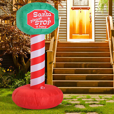 6' Inflatable Road Sign w/ Disco Light Outdoor Christmas Outdoor Decorations