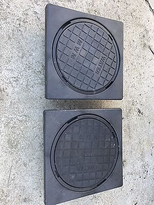 2 X 300mm/225mm Water Meter Box Inspection Chamber Cover Lid Cover