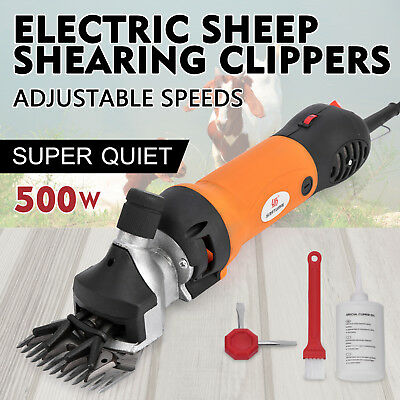 500W Electric Sheep Goat Shears Clippers Animal Shave Wool Farm Screwdriver