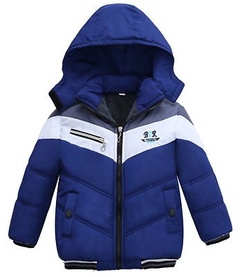 Thick Warm Children's Long Sleeve Hooded Jacket for boys