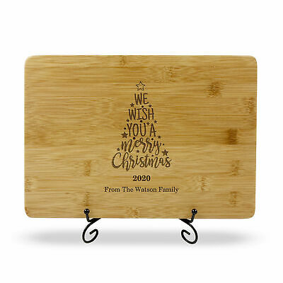 Christmas Gift Personalised Engraved Chopping Board Bamboo Cutting Board