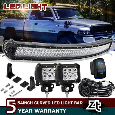 52inch Upper Roof Led Curved Work Light Bar Fit For 94 01