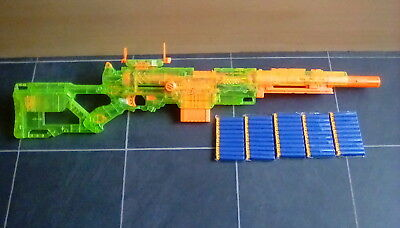 Nerf Gun Sniper Rifle Rare Sonic Longstrike CS-6 with Rare Sight & 50 Darts