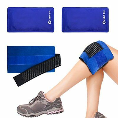 Set di 2 Flexible Ice Pack Caldo e freddo Gel Wrap Terapia di (XG0)