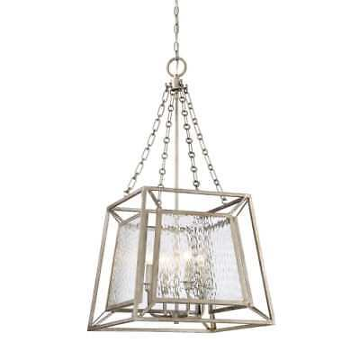 """Quoizel LKE5304VG Lakeside 4-Light 19"""" Wide Chandelier with Water Glass Shade"""