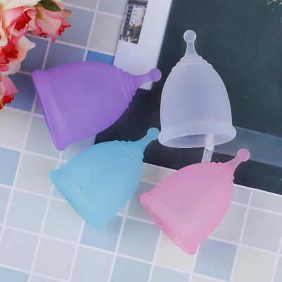 Menstrual cup medical grade soft silicone moon lady period hygiene reusable cupW