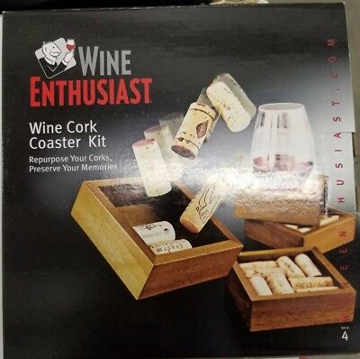 Wine Enthusiast Wine Cork Coaster Kit Home Decor Crafts Diy 11 24