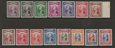 SARAWAK  SEL.OF MINT TO 50c FROM 1934/41 BETWEEN SG 106 & SG 119  FINE MOUNTED