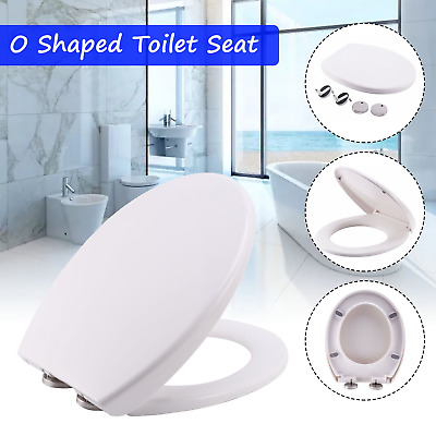 Square Soft Close Toilet Seat Top Fixing Easy Clean White Modern UKSTOCK KT