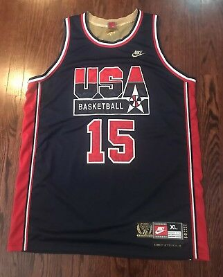 c7e033ec178b Authentic Nike Olympic Dream Team USA Gold  15 Earvin Johnson Jr Jersey XL