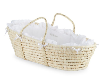 SAKS Badger style Basket Natural Moses Basket NEW